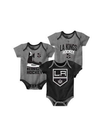 LA Kings Newborn Hat Trick 3 Piece Creeper Pack