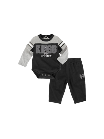 LA Kings Infant Newborn Post Game Twofer Pants Set