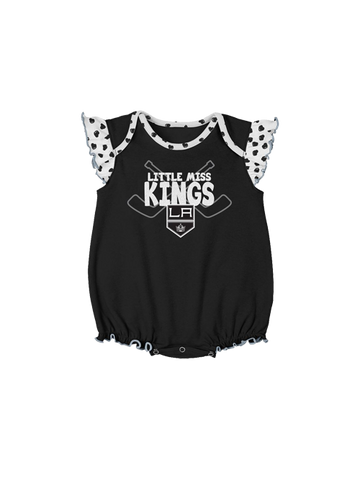 LA Kings Newborn Hockey Hearts 2 Piece Creeper Set
