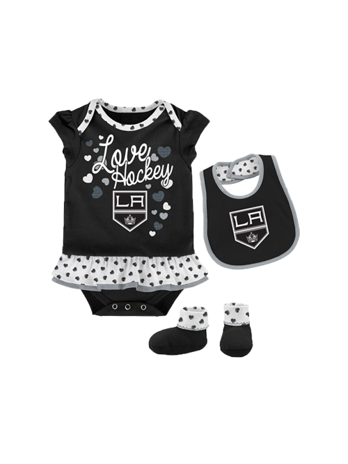 LA Kings Infant Love Hockey Bib and Bootie Set