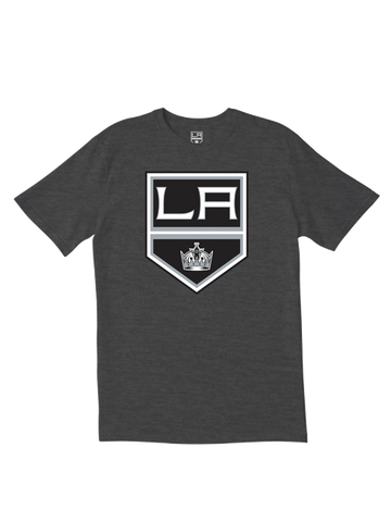 Los Angeles Kings Primary Logo T-Shirt - Charcoal