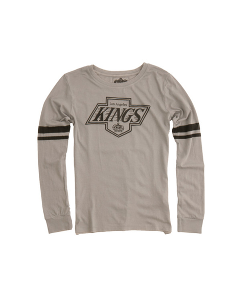 Los Angeles Kings Women's Chevron Logo Hawaii Long Sleeve T-Shirt