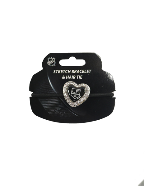 Los Angeles Kings Heart Stone Bracelet Hair Tie