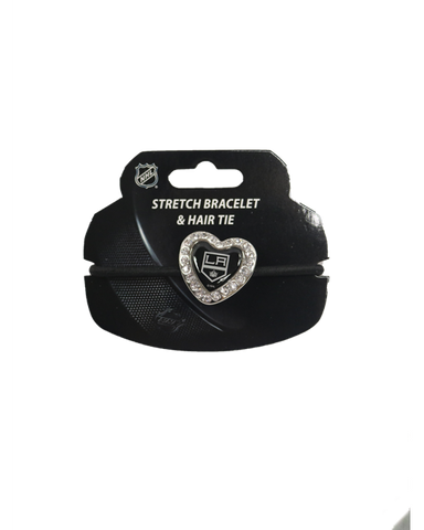LA Kings Heart Stone Bracelet Hair Tie