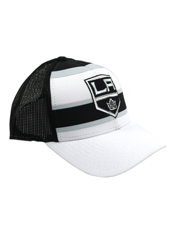 Los Angeles Kings White Front Shield Structured Adjustable Cap