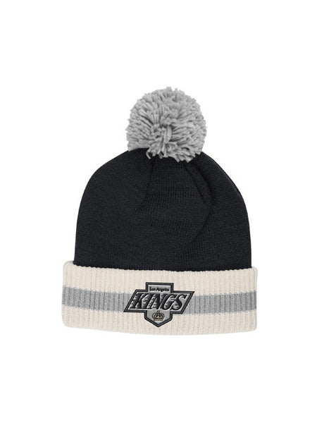 Los Angeles Kings CCM Logo with Striped Cuff Knit With Pom