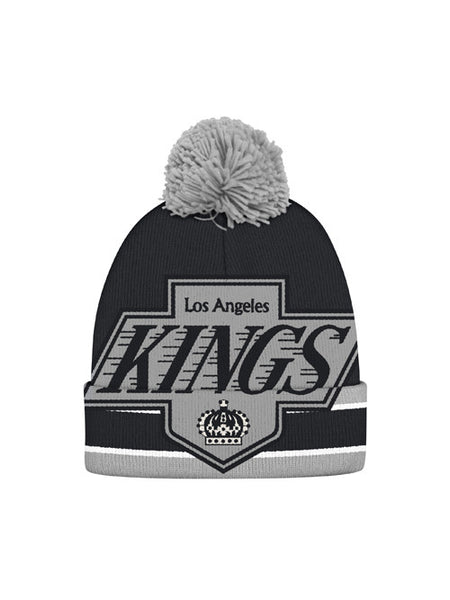 Los Angeles Kings CCM Large Vintage Chevron Logo Cuffed Knit With Pom
