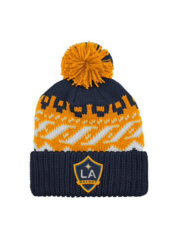 LA Galaxy Logo Cuffed Knit With Pom