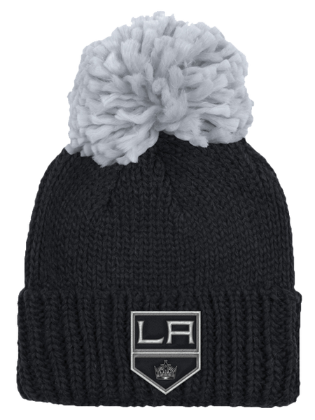 Los Angeles Kings Women's Shield Cuffed Pom Knit