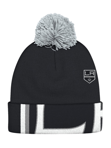 Los Angeles Kings Shield Cuffed Pom Knit Beanie