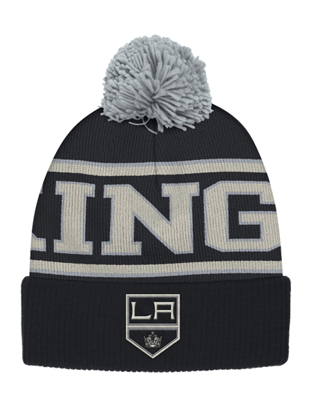Los Angeles Kings Team Name Cuffed Pom Knit Beanie