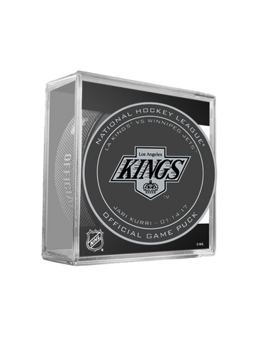 Los Angeles Kings 50th Jari Kurri On Ice Puck in Cube