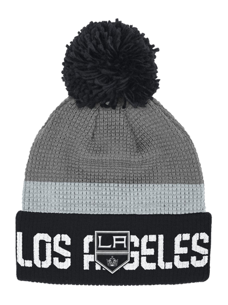 Los Angeles Kings Center Ice Cuffed Pom Stripe Beanie