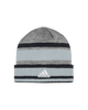 LA Kings Heathered Grey Stripe Cuffed Beanie