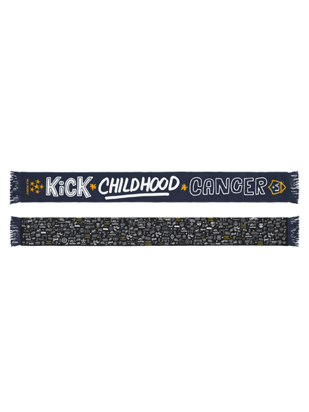 LA Galaxy Kick Childhood Cancer Scarf