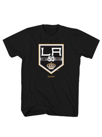 Los Angeles Kings 50th Logo Short Sleeve T-Shirt