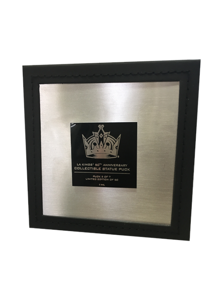 Los Angeles Kings 50th Anniversary Crown Statue Puck