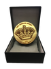 LA Kings 50th Anniversary Collectible Queens Crown Statue Puck