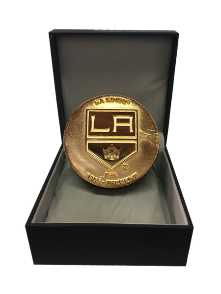 LA Kings 50th Anniversary Collectible Shield Statue Puck
