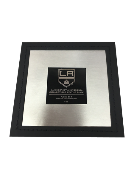 Los Angeles Kings 50th Anniversary Collectible Shield Statue Puck