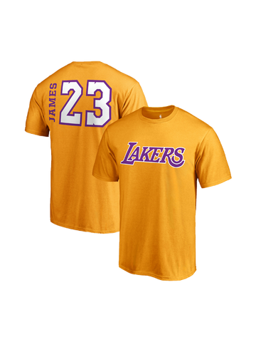 Los Angeles Lakers LeBron James Side Sweep Player V-Neck - Gold