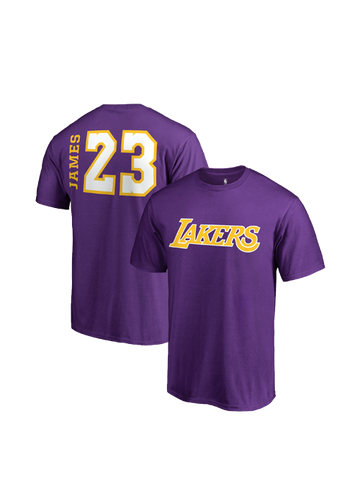 Los Angeles Lakers LeBron James Side Sweep Player V-Neck - Purple