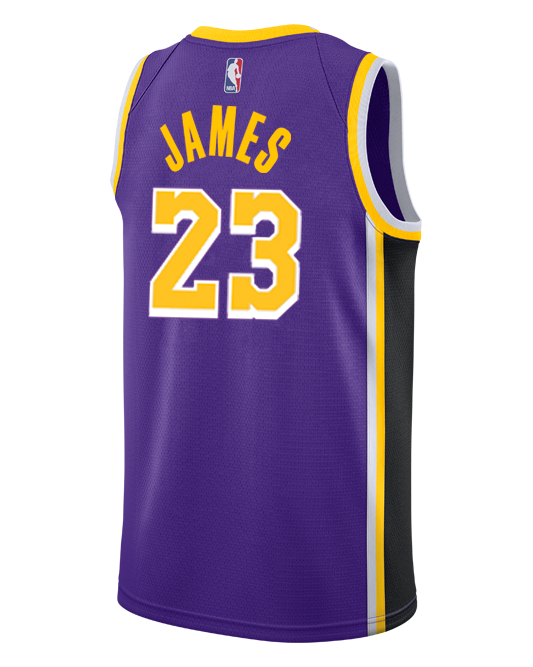 best service 1862b 50d7b Los Angeles Lakers LeBron James 2018-19 Statement Edition Swingman Jersey