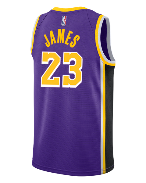 e9ba475f1872 Los Angeles Lakers LeBron James 2018-19 Statement Edition Swingman Jersey
