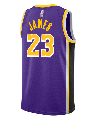 Los Angeles Lakers LeBron James 2018-19 Statement Edition Swingman Jersey
