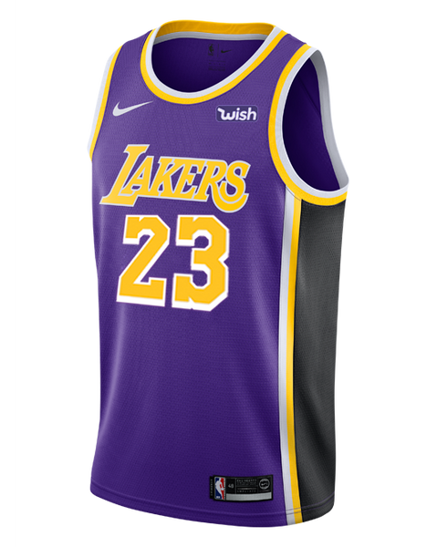 ee7b22b27 Los Angeles Lakers LeBron James 2018-19 Statement Edition Swingman Jer –  TEAM LA Store