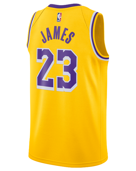 5d799a1c6 Los Angeles Lakers LeBron James 2018-19 Icon Edition Swingman Jersey