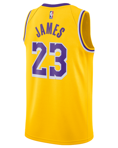 091cb61a311 Los Angeles Lakers LeBron James 2018-19 Icon Edition Swingman Jersey