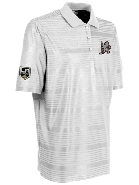 Los Angeles Kings 50th Anniversary Lion with Hockey Stick Polo
