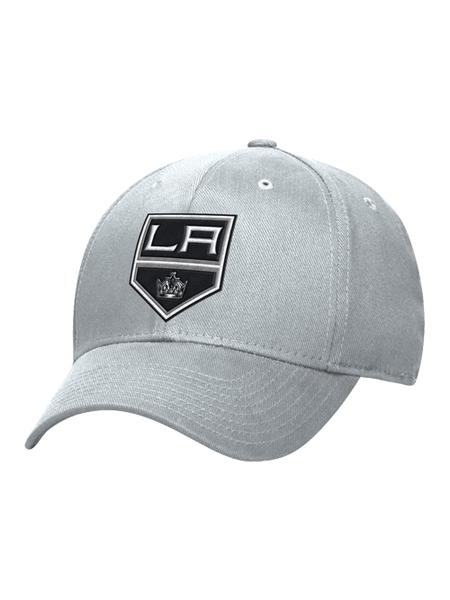 Los Angeles Kings Basic Shield Structured Flex Cap - Grey