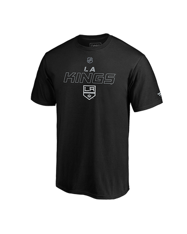 LA Kings Authentic Pro Prime Stack Short Sleeve Tee - Black/Grey