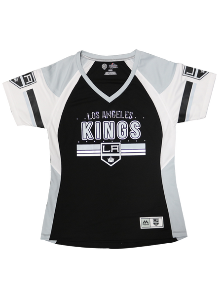 Los Angeles Kings Women's Ready to Win Shimmer Top