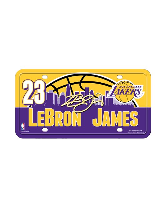 Los Angeles Lakers LeBron James License Plate