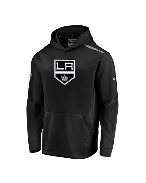 LA Kings Synthetic Pullover Hoodie - Black/Grey