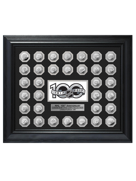 NHL 100th Anniversary Framed Team Coin Collection