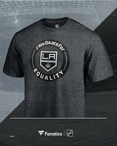 LA Kings #WE SKATE FOR EQUALITY T-Shirt