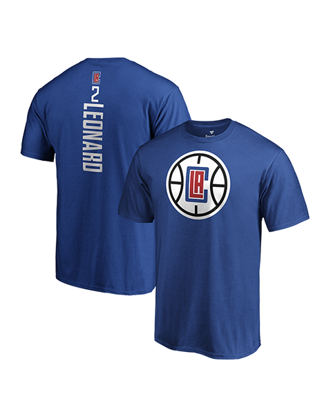 LA Clippers Kawhi Leonard Vertical Name & Number T-Shirt
