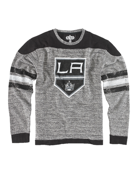 LA Kings Preston Striped French Terry Long Sleeve T-Shirt