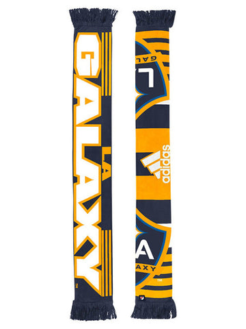 LA Galaxy Striped Logo Jacquered Scarf