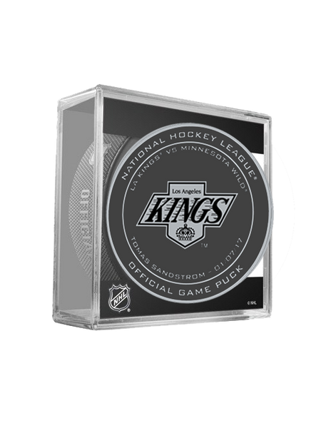Los Angeles Kings 50th Tomas Sandstrom On Ice Puck in Cube