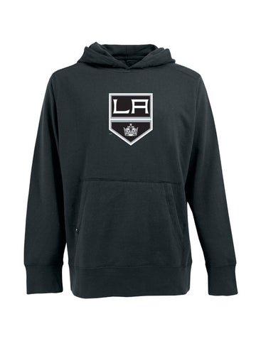 Los Angeles Kings Shield Screen Signature Pullover Hoodie - Charcoal