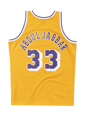 Los Angeles Lakers Kareem Abdul-Jabbar 84-85 Home Swingman Jersey