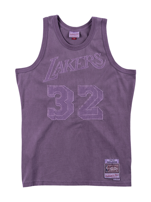 finest selection f7fca 8af4b Los Angeles Lakers Magic Johnson Washed Out Swignman Jersey