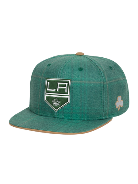 Los Angeles Kings St. Patrick's Sublimated Flat Brim Snapback Cap