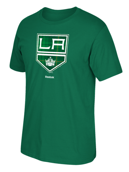 Los Angeles Kings Authentic St. Patrick's Day Tartan Logo T-Shirt