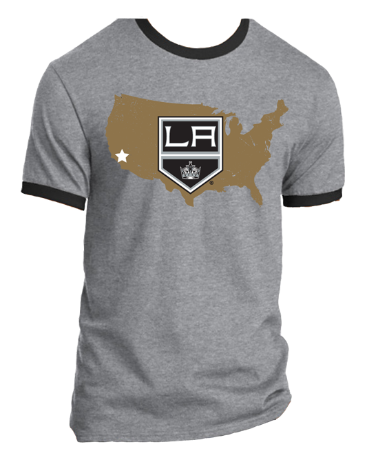 LA Kings Nationwide 1 CA Star Ringer T-Shirt